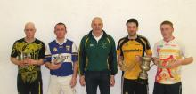 Division 1 Finalists: Tómas Lennon and Larry Brennan who were defeated by Peter Whelan and David Mulhall.