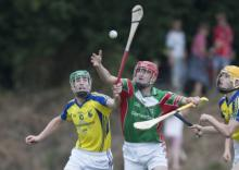Rathdowney Errill against Abbeyleix in the MHL final at Shanahoe. Picture Alf Harvey hrphoto.ie