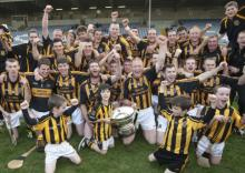 Camross celebrate after winning the Laois SHC final at O Moore Park. Picture Alf Harvey HR Photo