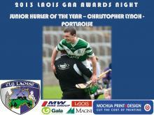 2013 Laois GAA Awards - Junior Hurling - Christopher Lynch - Portlaoise