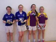 Cullohill and Laois girls Molly O'Connor and Lauren McGuigen proudly display their winner's medals after last Saturday