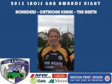 2013 Laois GAA Awards - Rounders - Catriona Keane - The Heath