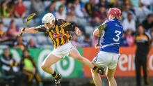 21 June 2014; Conor Browne, Kilkenny, in action against Ryan Mullaney, Laois. Electric Ireland Leinster Minor Hurling Championsh