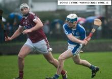 Brendan Reddin about to shoot on goal dulring their Walsh Cup clash with N.U.I.G. Photo Denis Byrne.
