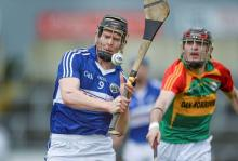 2014 LSHC Round Robin Rd 2 - Laois v Carlow Patrick Whelan, Laois, in action against Gary Kelly, Carlow. GAA All-Ireland Senior