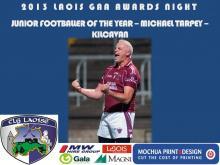 2013 Laois GAA Awards - Junior Football - Michael Tarpey - Kilcavan