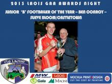 2013 Laois GAA Awards - Junior B Football - Ben Conroy Slieve Bloom Castletown