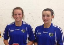 Niamh Dunne and Ciara Dowling (Laois) winners of Ladies Leinster 60x30 Junior B final.