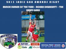 2013 Laois GAA Awards - Minor Hurling - Ronan Delahunty - The Harps Gaels