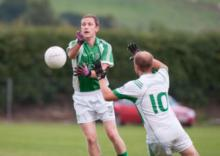 Jamie Kavanagh in action for Stradbally on Thursday night. Photo Denis Byrne.