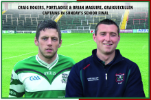 SFC Final Captains Craig Rogers & Brian Maguire