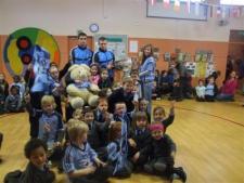 Sam Visits Local Schools!