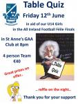 Féile 2015 Table Quiz