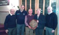 Pat West Receives Award on Behalf of the club