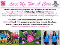 Lace up Pink With Dublin Ladies & Breast Cancer