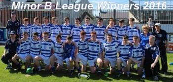 MINOR B HURLING CHAMPIONS MAY 16