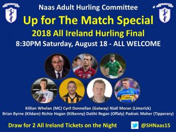 UP FOR THE MATCH - SATURDAY 18TH AUGUST 8.30PM IN CLUB