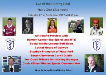EVE OF ALL-IRELAND HURLING FINAL 2017
