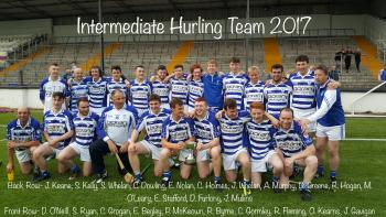 INTERMEDIATE HURLING CHAMPIONSHIP FINALISTS 2017