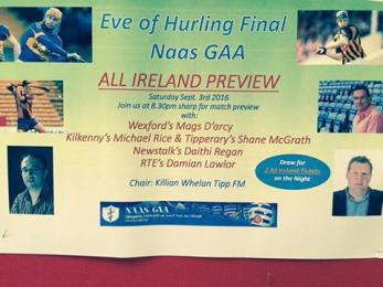 NAAS GAA EVE OF HURLING FINAL PREVIEW