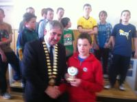 Boys U13B Player of the Year Ronan Nevin