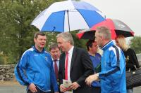 John Delaney at the official pitch opening