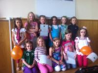 Girls U8s at Club Awards Day 2012