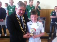 Boys U13A Player of the Year Eoin Fahy