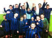 CUFC U14s after great win against Tuam Celtic Jan 2013