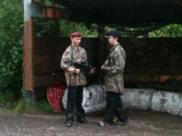 U12B Boys time out at Killary