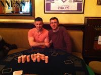 Texas HoldEm winners - Thomas Hoban and Barry Newell