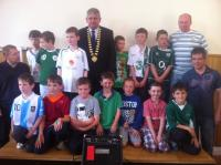 Boys U10s at Club Awards Day 2012
