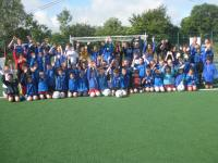 CUFC Summer Camp 2013 group cheering