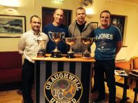 Coaches and Chairman with Cups at 2014 AGM