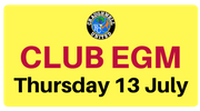 EGM at 9pm Thurs 13 July - Chairman and Secretary required!
