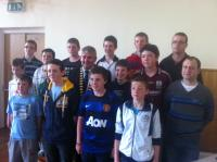 Boys U14s at Club Awards Day 2012