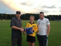 Kim O Hehir U16 Girls Best New Player for 2013 Season