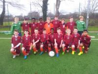 Liam Mulveen and Kieran O Connor on the Galway U12 team v Mayo