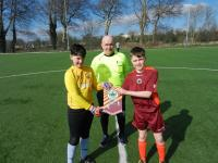 CUFC player Jamie Collins (right) captained the Galway U12 team against Longford