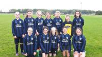 Craughwell United U12 girls who played Athenry at Coleman Park on Sun 24 Sept.