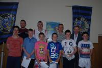 CUFC U14 Boys at Club Awards 2013