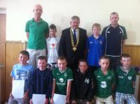 Boys U13A at Club Awards Day 2012