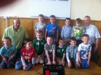 Boys U7s at Club Awards Day 2012