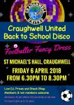 CUFC Back to School Disco on Friday 6 April