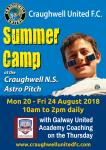 Summer Camp runs from Monday 20 to Friday 24 August 2018