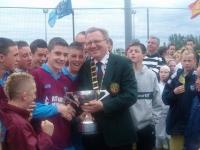 The presentation of the SFAI Goodson Cup to Phillip Ryan