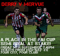 FAI Ford Cup v Derry City,Friday