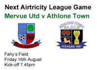 Next Game v Athlone Town
