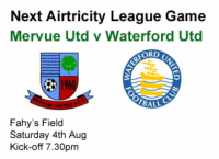 Mervue Utd v Waterford, Sat