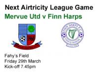 Mervue Utd v Finn Harps, Friday